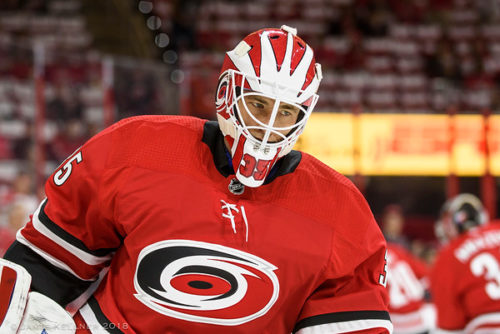 Gm58 Vs. Edm: Curtis McElhinney steals 3-1 win for Canes over the Oilers